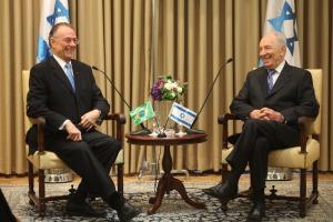 Nuzman e o presidente de Israel, Shimon Peres (divulgação)