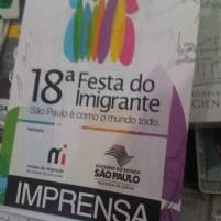 18ª Festa do Imigrante, por ocasião da pesquisa para o livro sobre imigração judaica (São Paulo, 2013)