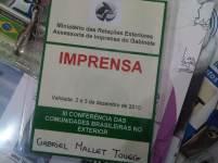 III Conferência das Comunidades Brasileiras no Exterior (Itamaraty, Rio de Janeiro, 2010)