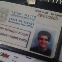 Credenciamento oficial como jornalista junto ao governo de Israel (2003)