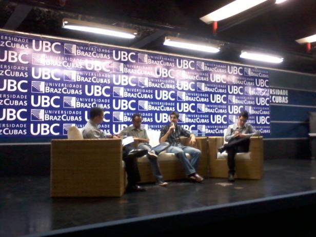 Apu Gomes, Gabriel Toueg e Bruno Cardoso na UBC