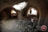 A mesquisa Al-Omari, em Jabaliya (Faixa de Gaza), após ser destruída em ataque aéreo israelense