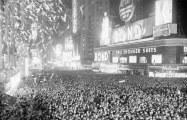 Comemorações do Ano Novo na Times Square, em Nova York, em 1938