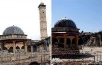 Minarete de Alepo, na Síria, antes e depois da destruição