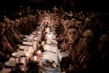Oficiais e cadetes nazistas comemorando o Natal (1941)
