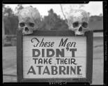 Propaganda de vacina contra malária na Papua Nova Guiné, durante a Segunda Guerra Mundial (1941)