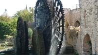Roda hidráulica em Hama, na Síria