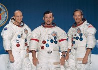 Tripulação da Apollo 16 em janeiro de 1972