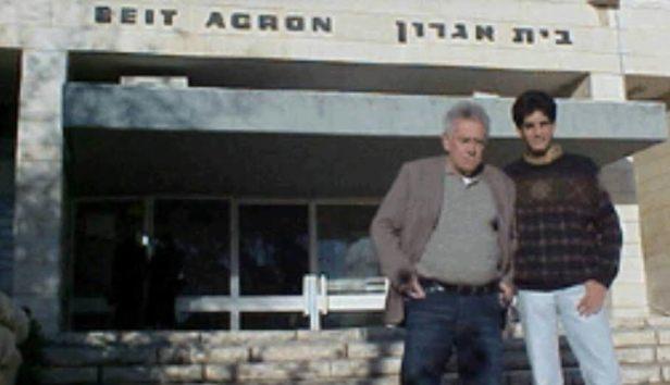 Nahum Sirotsky e Gabriel Toueg na Casa do Jornalista, em Jerusalém (foto: Acervo pessoal)