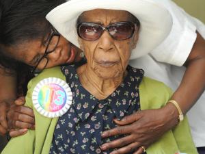 Susannah em seu 113º aniversário (foto: AP)
