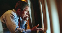 Bush a bordo do Air Force One no 11 de Setembro (foto: Eric Draper/George W. Bush Presidential Library and Museum)