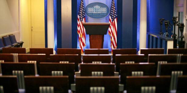 A sala de imprensa da Casa Branca, de onde querem tirar os jornalistas...